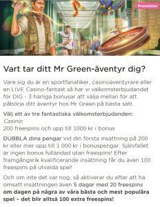 Mr Green har kampanjer mest jevnlig!