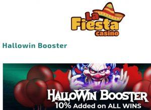Feir Halloween med 10% økte gevinster hos La Fiesta Casino!